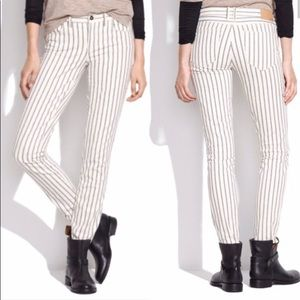 Madewell twin stripe ankle denim